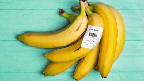 Avery Dennison rDT label on bananas