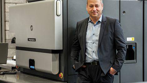 Aurika CEO Arūnas Akstinas HP Indigo 8K