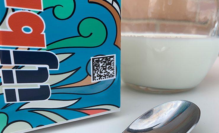 Milk carton QR code