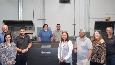 Enterprise team with Mouvent inkjet press