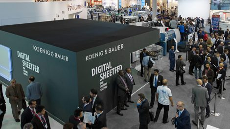The Koenig & Bauer stand at drupa 2016