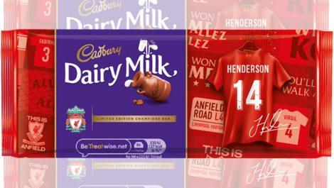 Cadbury Liverpool FC unique chocolate bars
