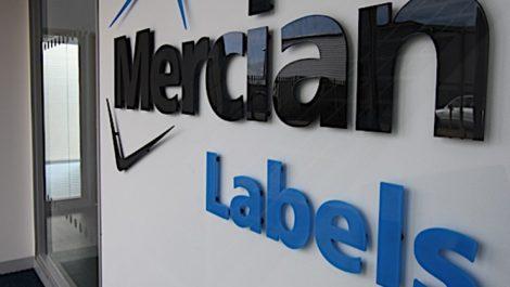 Mercian Labels wall logo