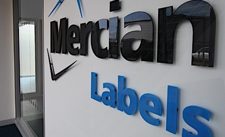 Mercian Labels wall logo
