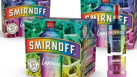 Smirnoff digital print corrugated packaging