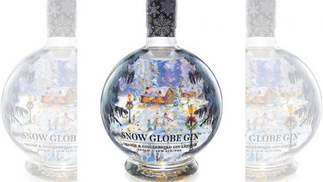 Snow Globe gin shrink sleeve Berkshire Labels