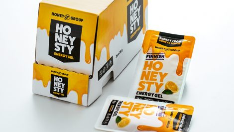 V-Shapes honey sachet sample