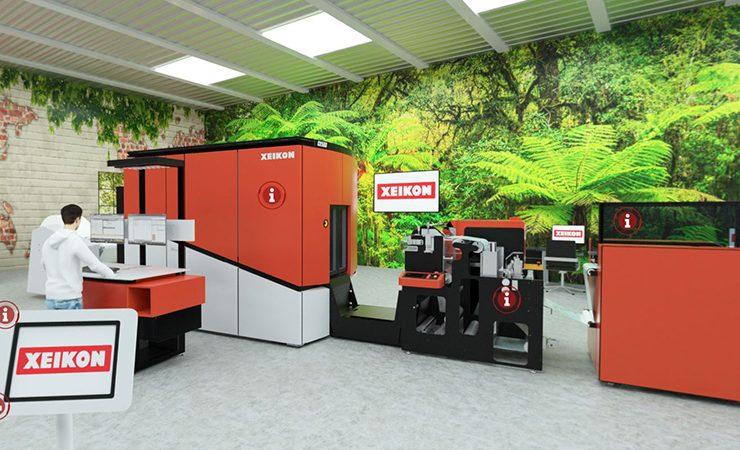 Xeikon walldeco demo at Printing Expo