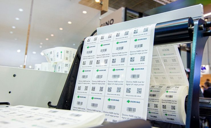 Domino K600i barcode printing